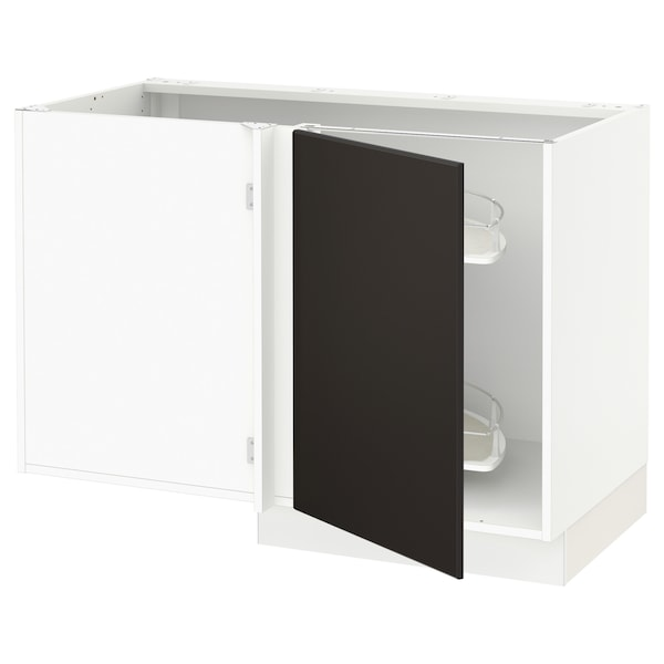 """SEKTION Arm inf angle+aménagement coul, blanc/Kungsbacka anthracite, 47x24x30 """""""