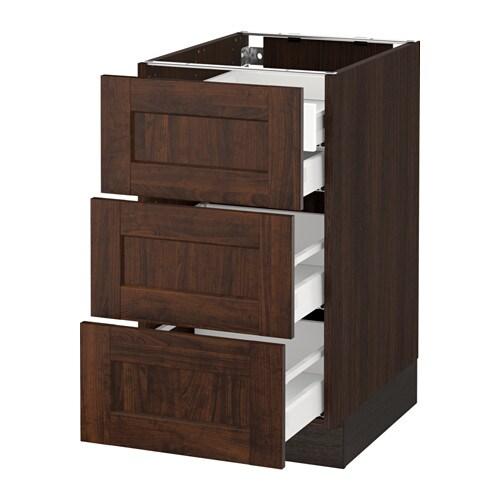 sektion arm inf 3 faces 4 tiroirs effet bois brun ma edserum effet bois brun 18x24x30 ikea. Black Bedroom Furniture Sets. Home Design Ideas