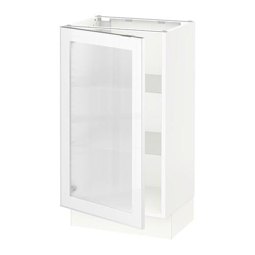 sektion arm inf porte vitr e blanc jutis verre d poli aluminium 18x15x30 ikea. Black Bedroom Furniture Sets. Home Design Ideas