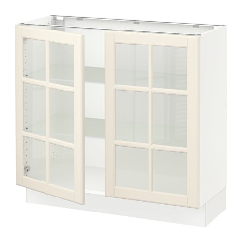 sektion arm inf 2 portes vitr blanc bodbyn blanc cass 36x15x30 ikea. Black Bedroom Furniture Sets. Home Design Ideas