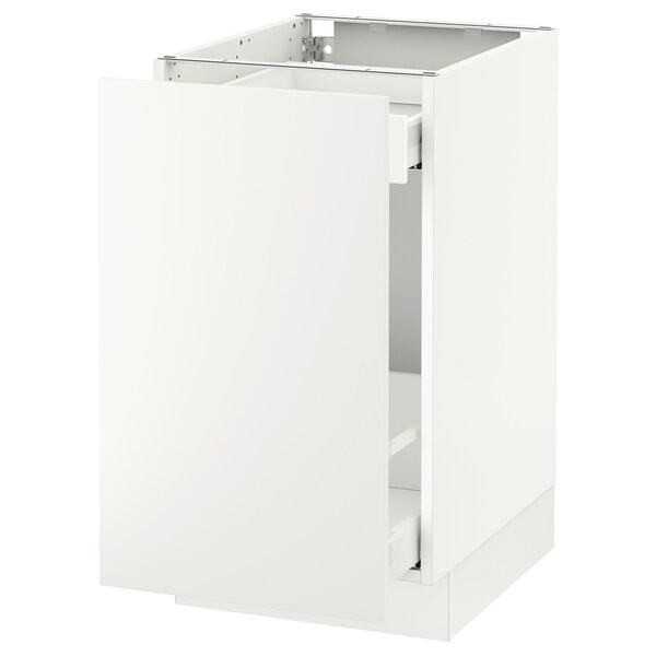 "SEKTION Arm inf tri/1 pte, blanc Maximera/Häggeby blanc, 18x24x30 """
