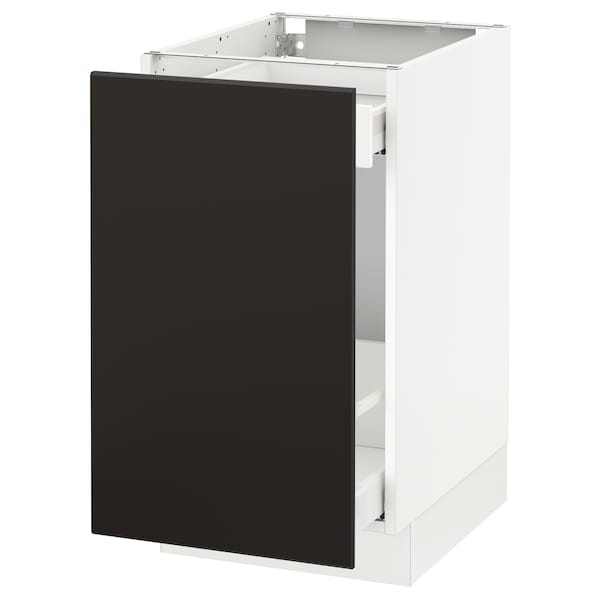 """SEKTION Arm inf tri/1 pte, blanc Maximera/Kungsbacka anthracite, 18x24x30 """""""