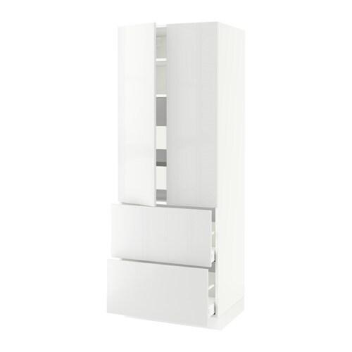 sektion arm 2 portes 2 faces 4 tiroirs blanc ma ringhult ultrabrillant blanc 30x24x80 ikea. Black Bedroom Furniture Sets. Home Design Ideas