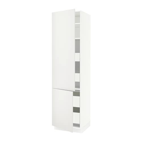 sektion arm 2 portes tablettes 4 tiroirs blanc ma h ggeby blanc 24x24x90 ikea. Black Bedroom Furniture Sets. Home Design Ideas