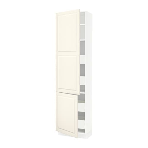 sektion arm 2 portes tablettes 4 tiroirs blanc ma bodbyn blanc cass 24x15x90 ikea. Black Bedroom Furniture Sets. Home Design Ideas