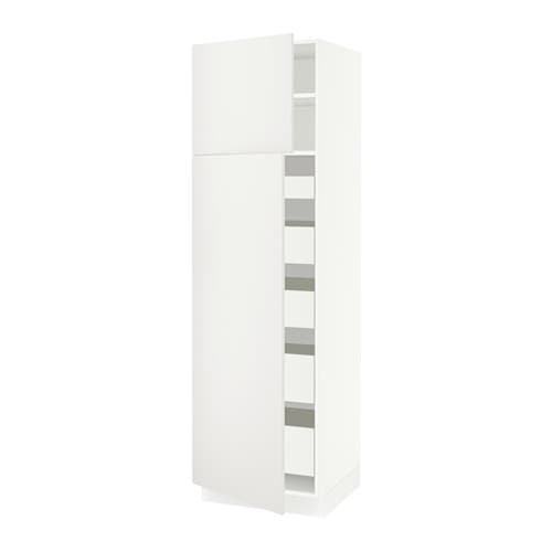 sektion arm 2 portes tablettes 5 tiroirs blanc f h ggeby blanc 24x24x80 ikea. Black Bedroom Furniture Sets. Home Design Ideas