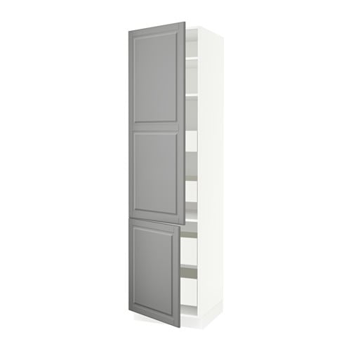 sektion arm 2 portes tablettes 4 tiroirs blanc f bodbyn gris 24x24x90 ikea. Black Bedroom Furniture Sets. Home Design Ideas