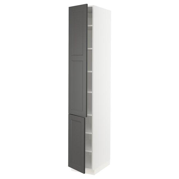 "SEKTION Arm+tabl/2ptes, blanc/Axstad gris foncé, 15x24x90 """