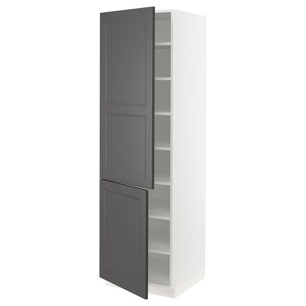 "SEKTION Arm+tabl/2ptes, blanc/Axstad gris foncé, 24x24x80 """