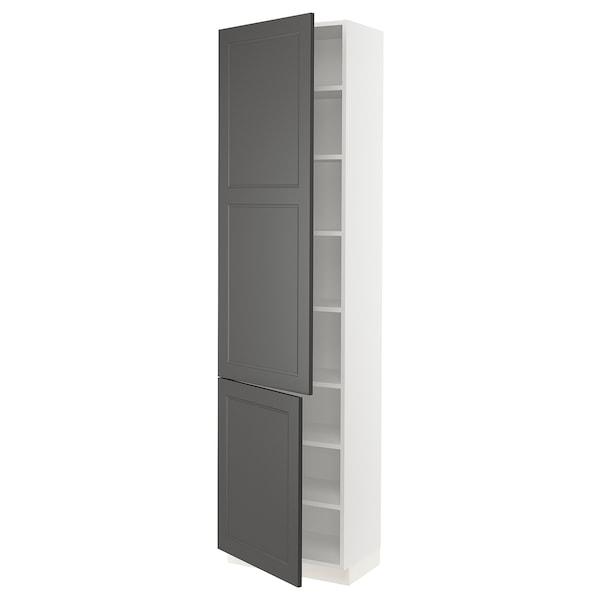 "SEKTION Arm+tabl/2ptes, blanc/Axstad gris foncé, 24x15x90 """