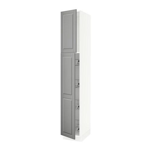 sektion armoire avec porte et corbeilles blanc bodbyn gris 15x24x90 ikea. Black Bedroom Furniture Sets. Home Design Ideas
