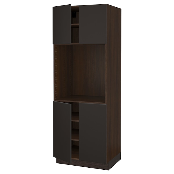 """SEKTION Armoire haute four 4 ptes, brun/Kungsbacka anthracite, 30x24x80 """""""