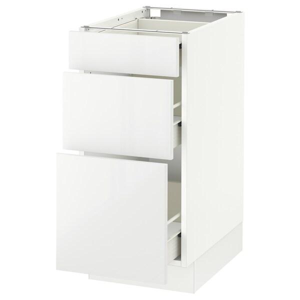 "SEKTION Armoire inf 3 tir, blanc Förvara/Ringhult blanc, 15x24x30 """