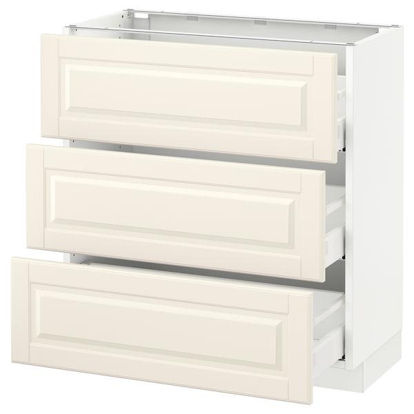"SEKTION Armoire inf 3 tir, blanc Maximera/Bodbyn blanc cassé, 30x15x30 """