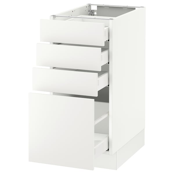 "SEKTION Armoire inf 4 tir, blanc Maximera/Häggeby blanc, 15x24x30 """