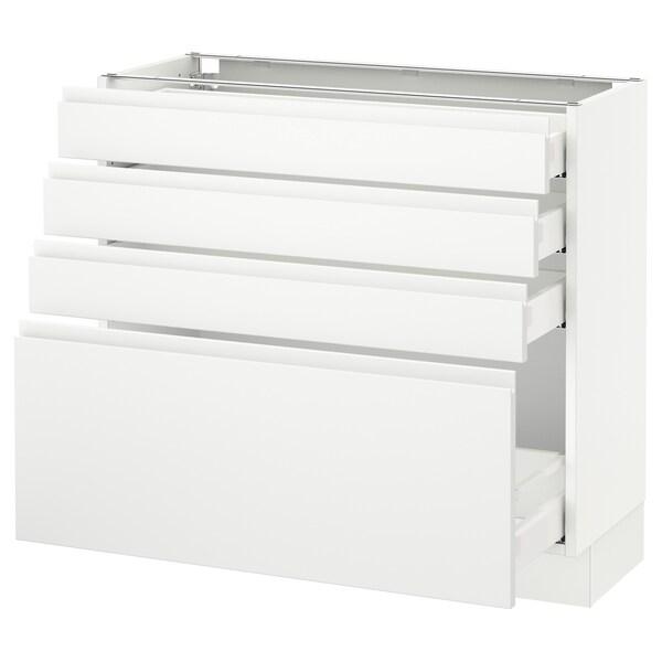 "SEKTION Armoire inf 4 tir, blanc Maximera/Voxtorp blanc mat, 36x15x30 """