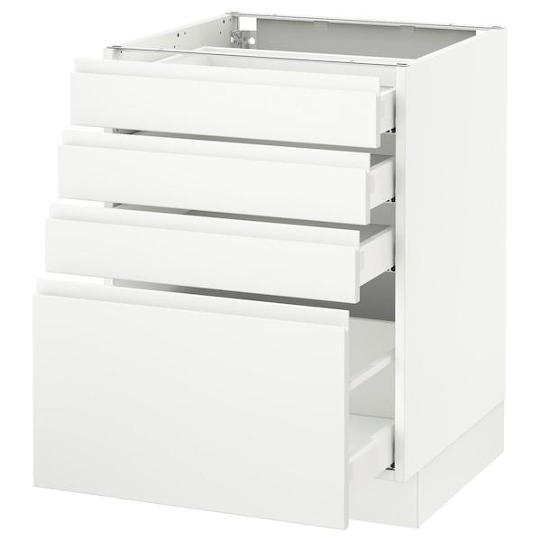 "SEKTION Armoire inf 4 tir, blanc Maximera/Voxtorp blanc mat, 24x24x30 """