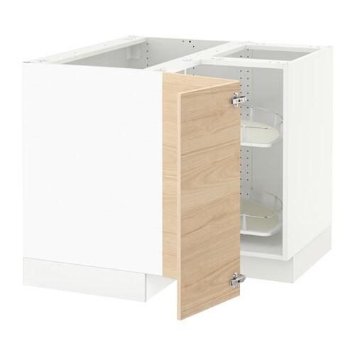 Sektion armoire inf angle rgt pivotant blanc askersund for Caisson armoire de cuisine