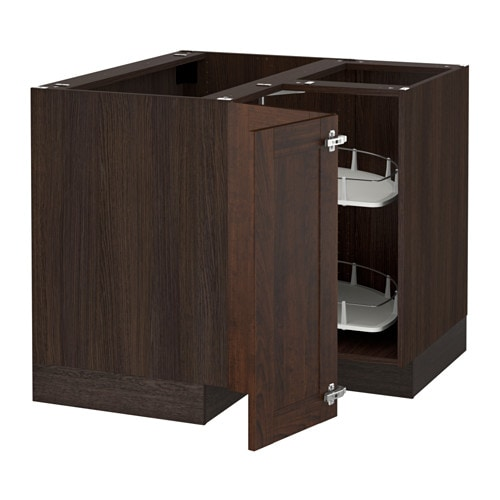 sektion armoire inf angle rgt pivotant effet bois brun edserum effet bois brun 38x24x30 ikea. Black Bedroom Furniture Sets. Home Design Ideas