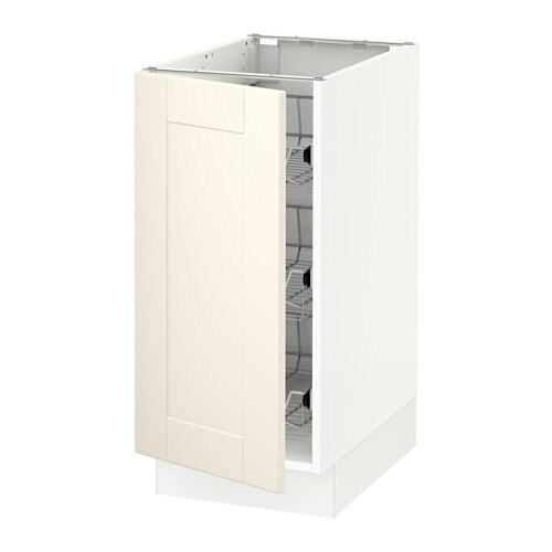 sektion armoire inf corb fil blanc grimsl v blanc cass 15x24x30 ikea. Black Bedroom Furniture Sets. Home Design Ideas
