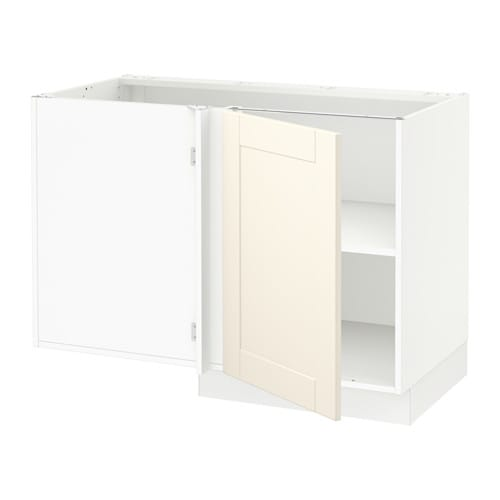 Sektion armoire inf d 39 angle tablette blanc grimsl v blanc cass ikea - Armoire d angle ikea ...