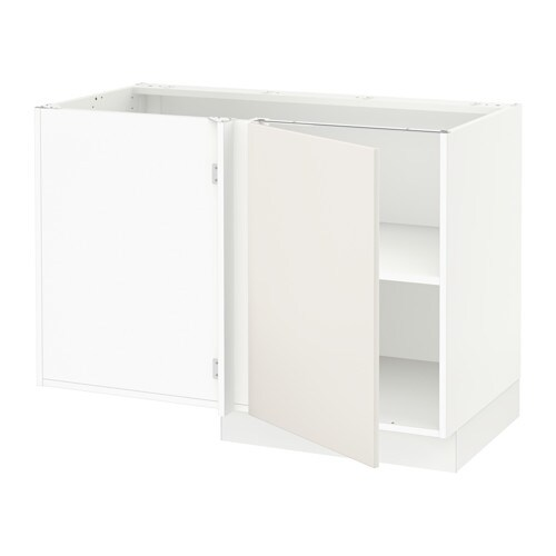 sektion armoire inf d 39 angle tablette blanc veddinge blanc ikea. Black Bedroom Furniture Sets. Home Design Ideas