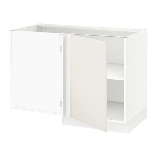 sektion armoire inf d 39 angle tablette blanc veddinge blanc ikea. Black Bedroom Furniture Sets. Home Design Ideas