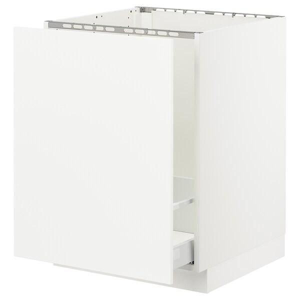 "SEKTION Armoire inf évier/tri déchets, blanc Maximera/Axstad blanc mat, 24x24x30 """