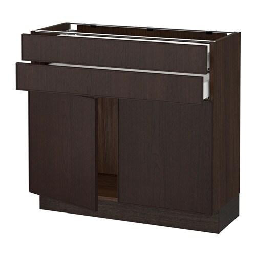 sektion armoire inf 2 portes 2 tir effet bois brun ma ekestad brun 36x15x30 ikea. Black Bedroom Furniture Sets. Home Design Ideas