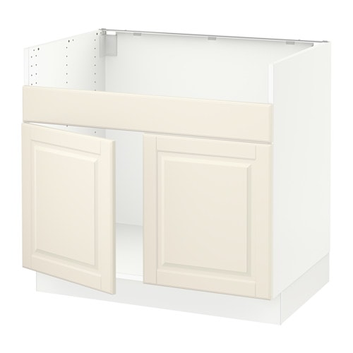 sektion armoire inf pr vier domsj 2bacs blanc bodbyn blanc cass ikea. Black Bedroom Furniture Sets. Home Design Ideas