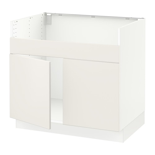 sektion armoire inf pr vier domsj 2bacs blanc veddinge blanc ikea. Black Bedroom Furniture Sets. Home Design Ideas