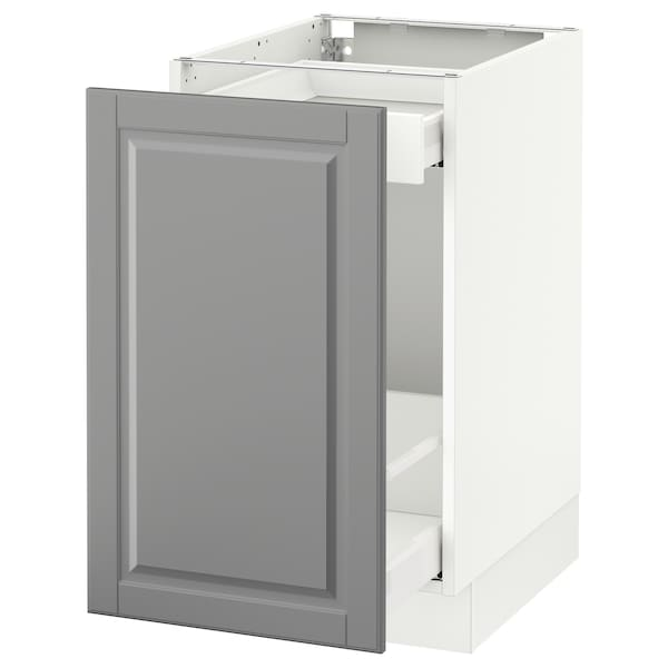SEKTION Armoire inf rgt coul, blanc Maximera/Bodbyn gris, 18x24x30 ""