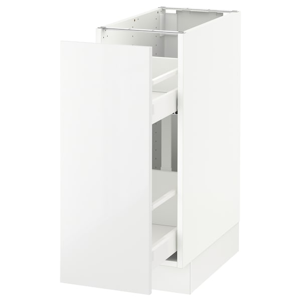 """SEKTION Armoire inf rgt coul, blanc/Ringhult blanc, 12x24x30 """""""
