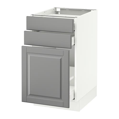 Sektion armoire inf rgt coulissant 2tiroirs blanc bodbyn gris 18x24x30 q - Tiroir coulissant ikea ...