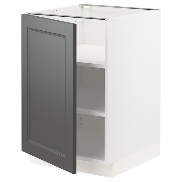 "SEKTION Armoire inf+tabl, blanc/Axstad gris foncé, 21x24x30 """