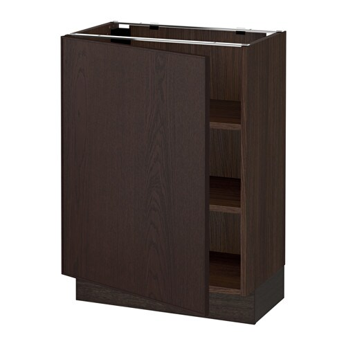 sektion armoire inf tabl effet bois brun ekestad brun 24x15x30 ikea. Black Bedroom Furniture Sets. Home Design Ideas