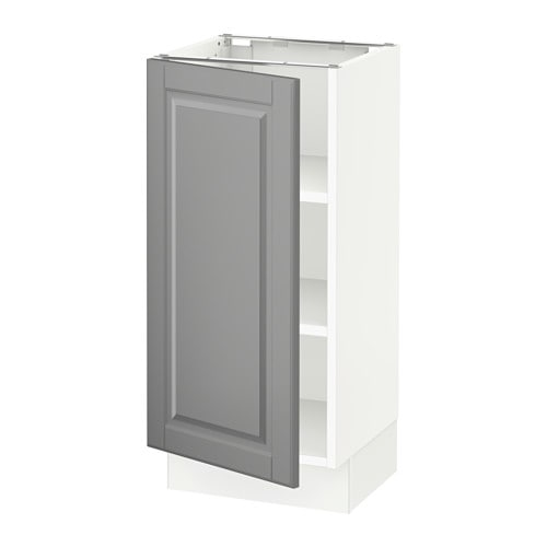 sektion armoire inf tabl blanc bodbyn gris 15x15x30. Black Bedroom Furniture Sets. Home Design Ideas