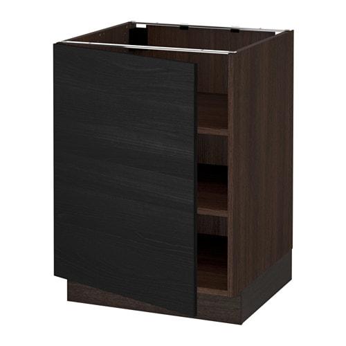 sektion armoire inf tabl effet bois brun tingsryd effet bois noir 24x24x30 ikea. Black Bedroom Furniture Sets. Home Design Ideas