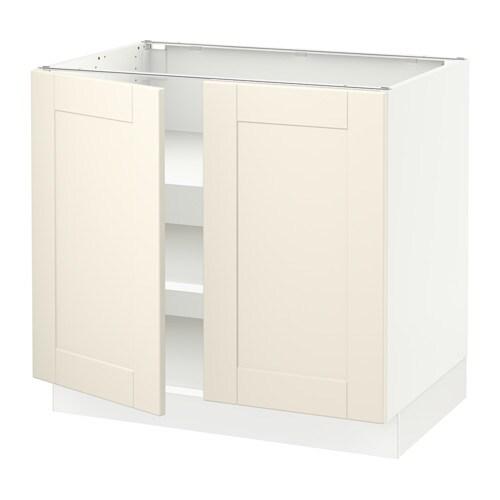 sektion armoire inf tabl 2ptes blanc grimsl v blanc cass 36x24x30 ikea. Black Bedroom Furniture Sets. Home Design Ideas