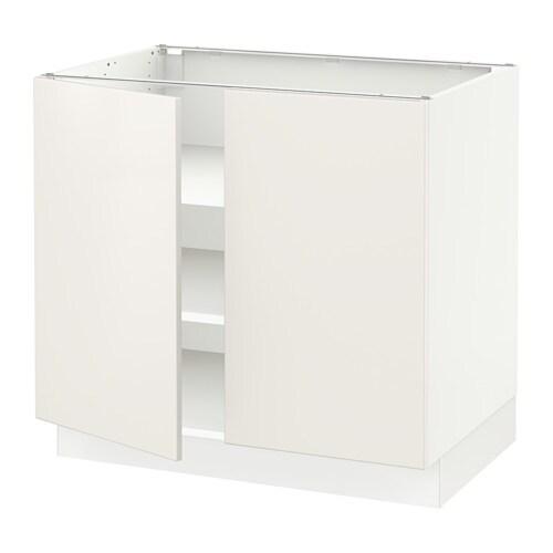 Sektion armoire inf tabl 2ptes blanc veddinge blanc for Caisson armoire de cuisine
