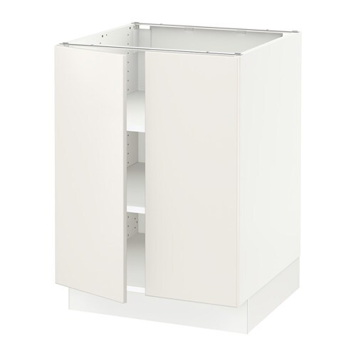sektion armoire inf tabl 2ptes blanc veddinge blanc 24x24x30 ikea. Black Bedroom Furniture Sets. Home Design Ideas