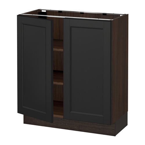 sektion armoire inf tabl 2ptes effet bois brun laxarby brun noir 30x15x30 ikea. Black Bedroom Furniture Sets. Home Design Ideas