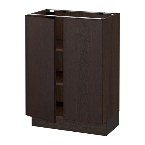 sektion armoire inf tabl 2ptes effet bois brun ekestad brun 24x15x30 ikea. Black Bedroom Furniture Sets. Home Design Ideas