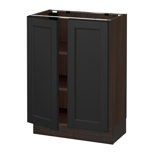 sektion armoire inf tabl 2ptes effet bois brun laxarby brun noir 24x15x30 ikea. Black Bedroom Furniture Sets. Home Design Ideas