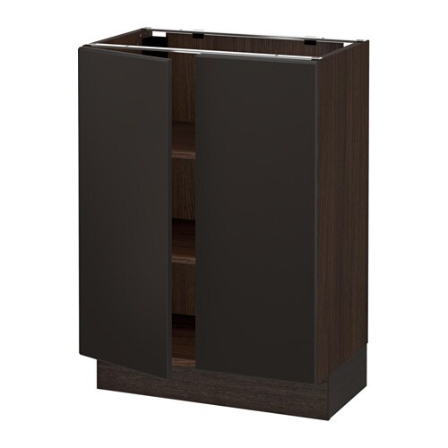 sektion armoire inf tabl 2ptes effet bois brun kungsbacka anthracite 24x15x30 ikea. Black Bedroom Furniture Sets. Home Design Ideas