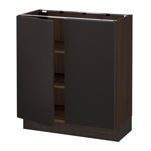 Sektion armoire inf tabl 2ptes effet bois brun for Cuisine kungsbacka ikea