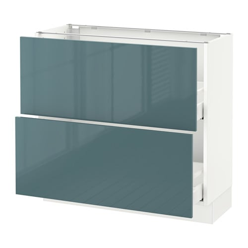 sektion armoire inf 2 tir blanc kallarp ultrabrillant gris turquoise 36x15x30 ikea. Black Bedroom Furniture Sets. Home Design Ideas