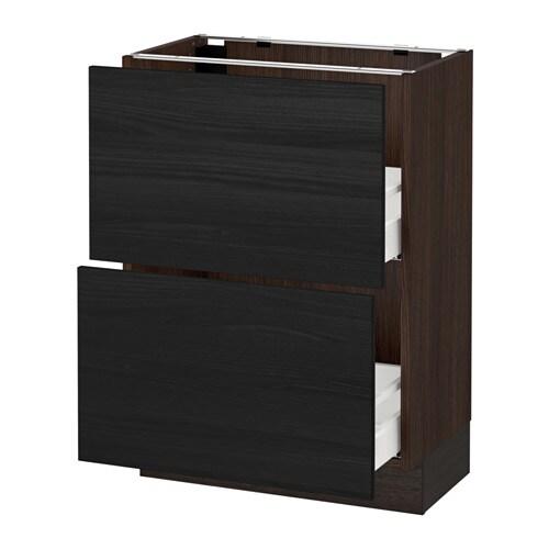 sektion armoire inf 2 tir effet bois brun tingsryd effet bois noir 24x15x30 ikea. Black Bedroom Furniture Sets. Home Design Ideas