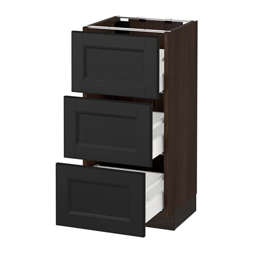 sektion armoire inf 3 tir effet bois brun laxarby brun noir 15x15x30 ikea. Black Bedroom Furniture Sets. Home Design Ideas