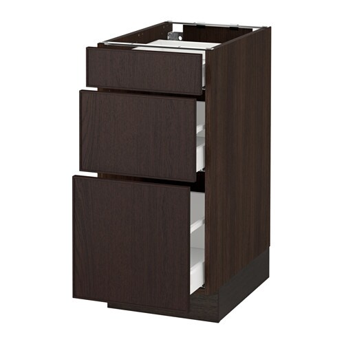 sektion armoire inf 3 tir effet bois brun ma ekestad brun 15x24x30 ikea. Black Bedroom Furniture Sets. Home Design Ideas